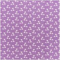 Rico Design Stoff Margeriten violett 50x160cm