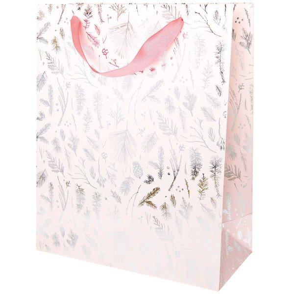 Paper Poetry Geschenktüte Nostalgic Christmas Zweige rosa 26x32x12cm