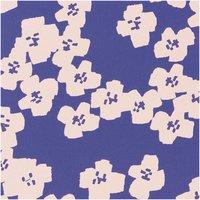 Rico Design Druckstoff Okina Hana Blumen blau-rosa 50x140cm