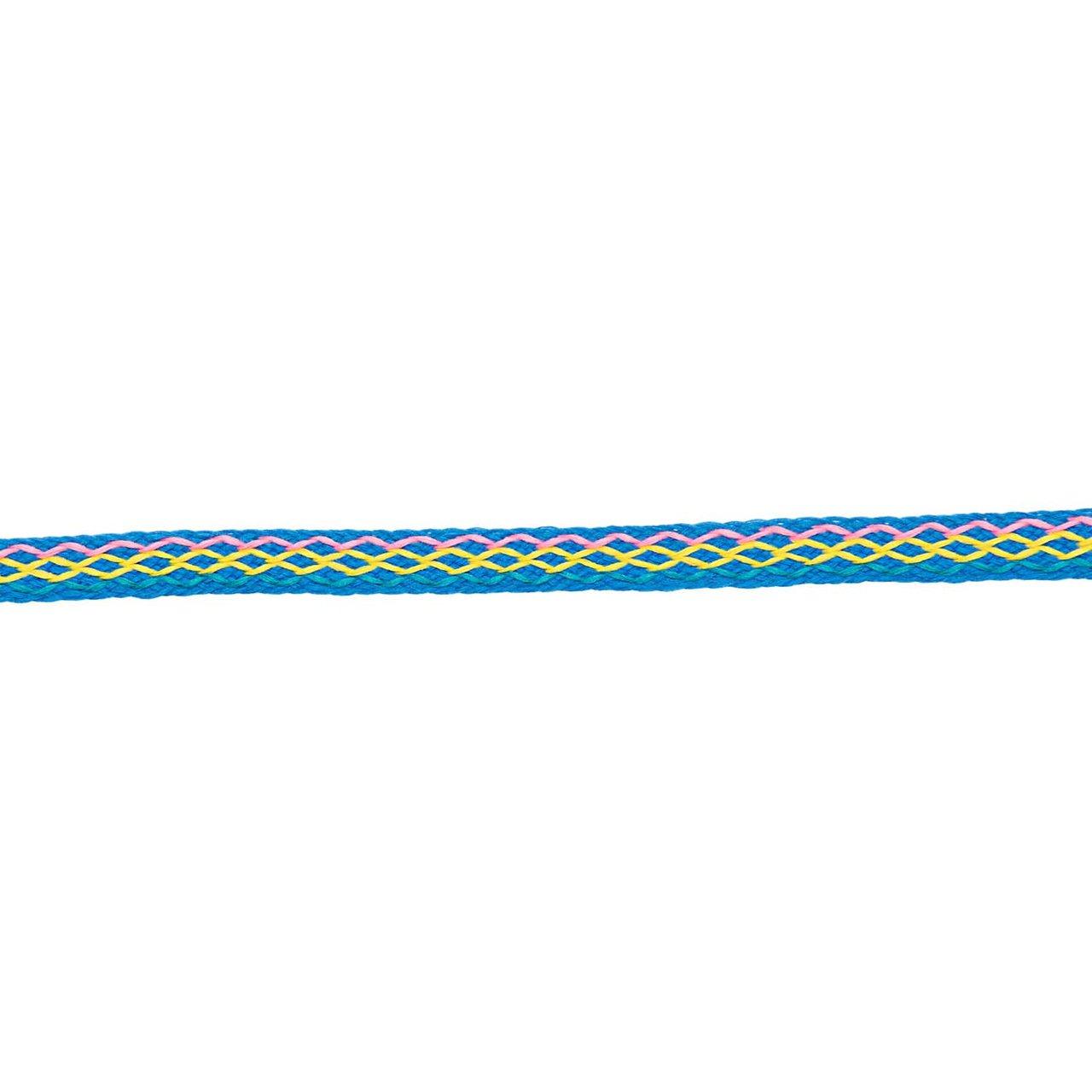 Made by Me Ribbon bestickt blau 2m