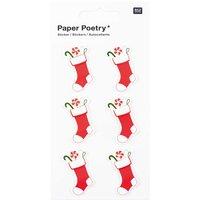 Paper Poetry 3D Sticker Weihnachtssocken