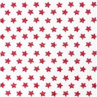 Rico Design Stoff große Sterne rot 160cm