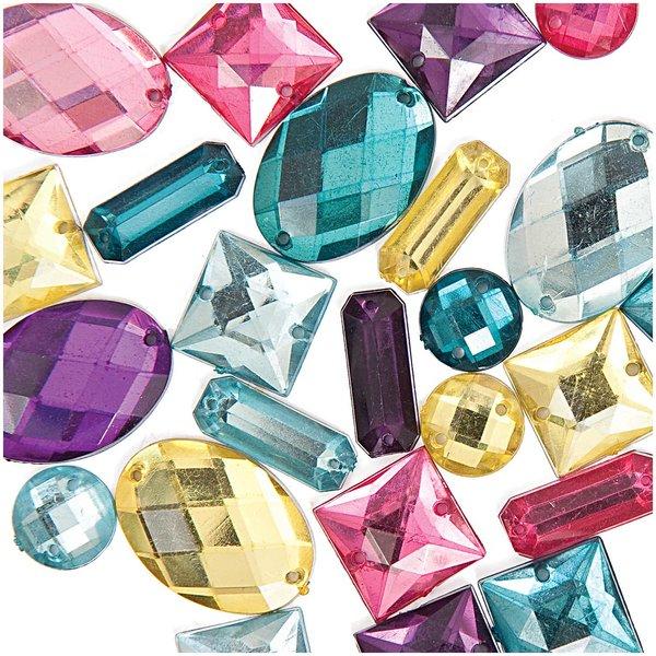 Jewellery Made by Me Aufnähsteine Mix mehrfarbig 25 Stück