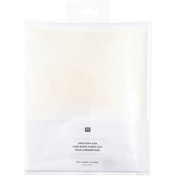 Rico Design Aida wollweiß 40x40cm zum Besticken