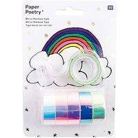 Paper Poetry Mirror Rainbow Tape mehrfarbig 6 Stück