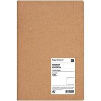 Paper Poetry Notizbuch weiß A5 Kraftpapier blanko