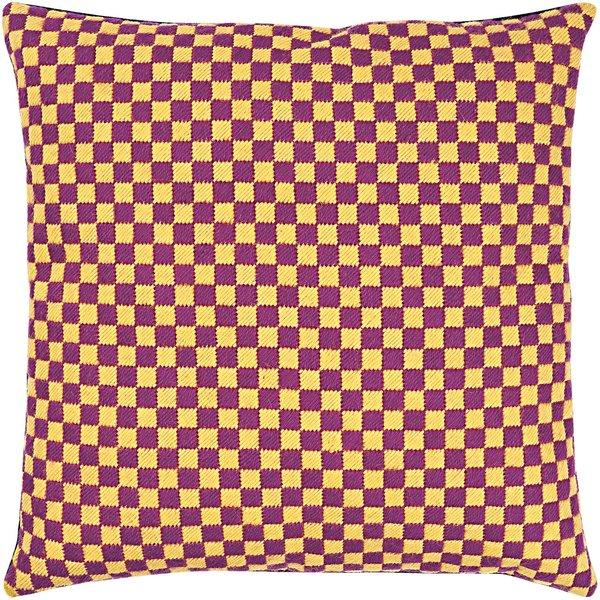 Rico Design Gobelin Kissen Quadrate gelb-lila 40x40cm zum Sticken