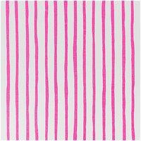 Rico Design Stoff weiß-pinke Streifen 160cm