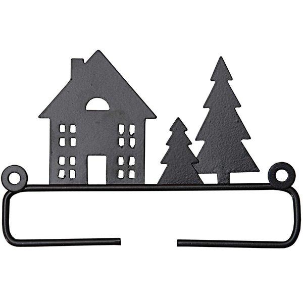 Rico Design Dekobügel Haus mit Tanne 11cm