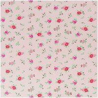 Rico Design Stoff Blumen rosa 160cm