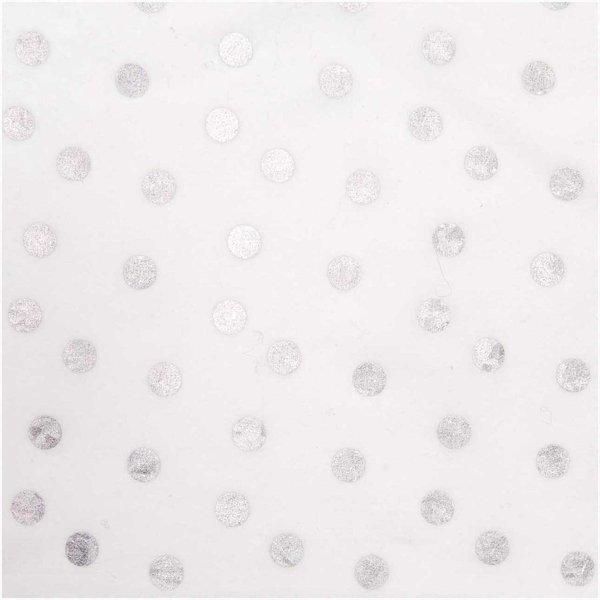 Rico Design Wachstuch Punkte weiß 25x70cm beschichtet