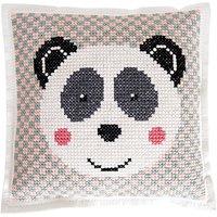 Rico Design Filzkissen zum Besticken Pandabär 42x42cm