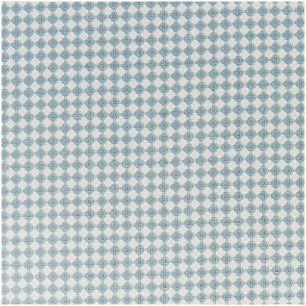 Rico Design Stoff grafische Muster grün-pink 50x140cm
