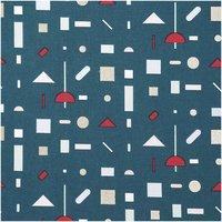 Rico Design Druckstoff grafisches Muster grün-gold 140cm
