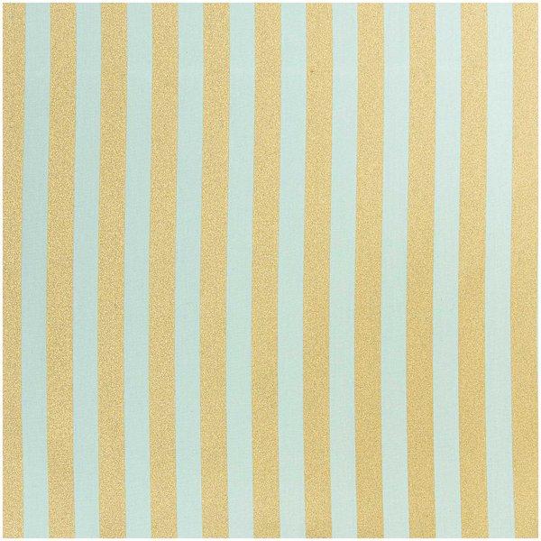 Rico Design Stoff Streifen mint-gold 50x140cm