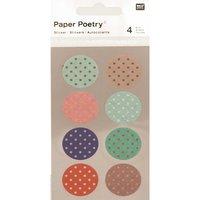 Paper Poetry Washi Sticker rund Punkte 4 Bogen