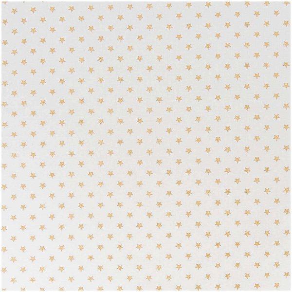 Rico Design Stoff Sterne weiß-gold 50x160cm