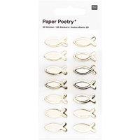 Paper Poetry 3D-Sticker Fische klein 14 Stück