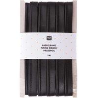 Rico Design Paspelband Kunstleder schwarz 2cmx3m