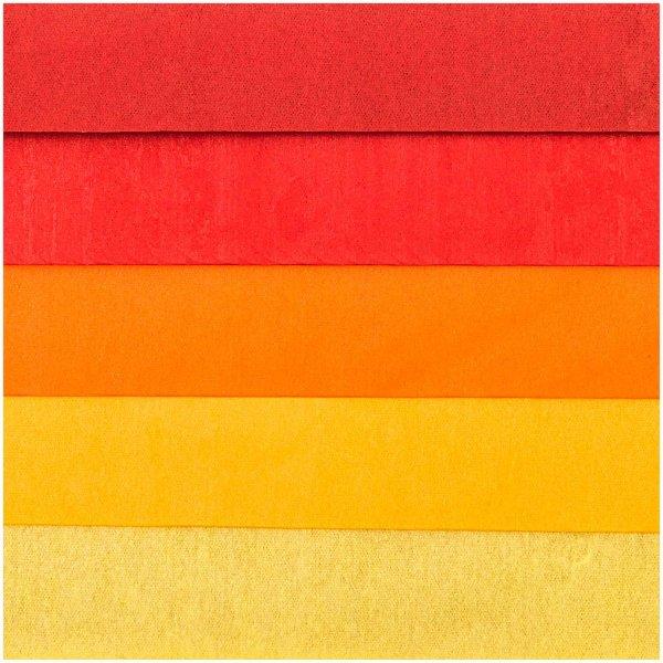 Paper Poetry Seidenpapier rot sortiert 50x70cm 5 Bogen