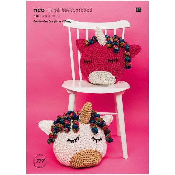 Rico Design Rico Häkelidee Compact Nr 757 Einhornkissen Wolle Rödel
