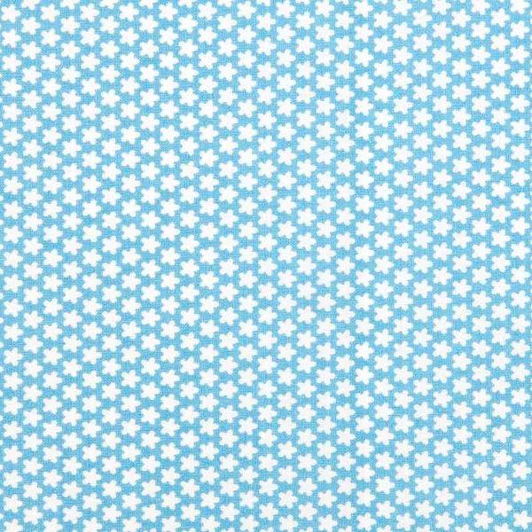Rico Design Stoff Blümchen hellblau-weiß 50x160cm