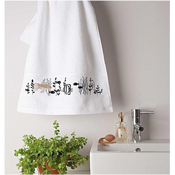 Rico Design Stickpackung Handtuch Fische 50x100cm