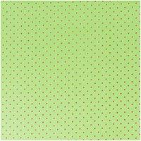 Rico Design Stoff grün Punkte pink 160cm