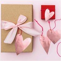 Paper Poetry Papieranhänger It must be love Herzen rosa 8 Stück