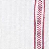 Rico Design Geschirrtuch weiß mit rotem Rand 50x75cm