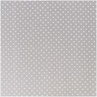 Rico Design Stoff Punkte klein grau-weiß 50x140cm