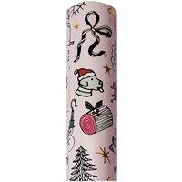 Paper Poetry Geschenkpapier X-MAS rosa irisierend 70x200cm 2m