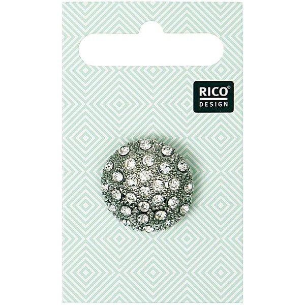 Rico Design Schmuckknopf mit Strass 2,3cm