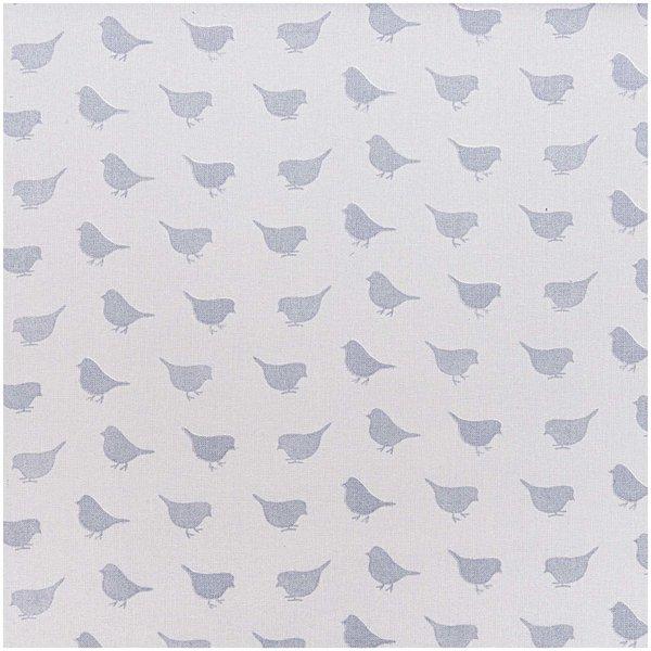 Rico Design Stoff Vögelchen grau 50x160cm