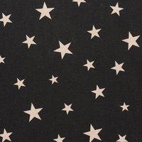 Rico Design Stoff Sterne grafisch schwarz-natur 140cm