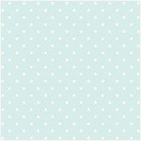 Rico Design Stoff Sterne mint-weiß 140cm