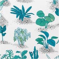Rico Design Druckstoff Hygge Pflanzen hellgelb-neon 50x140cm