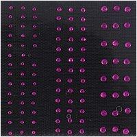 Jewellery Made by Me Bügelmotiv Streifen pink 2-4mm Strass