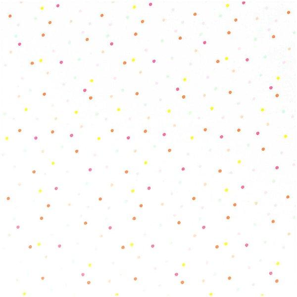 Rico Design Stoff Konfetti weiß-neon-pastell 50x140cm