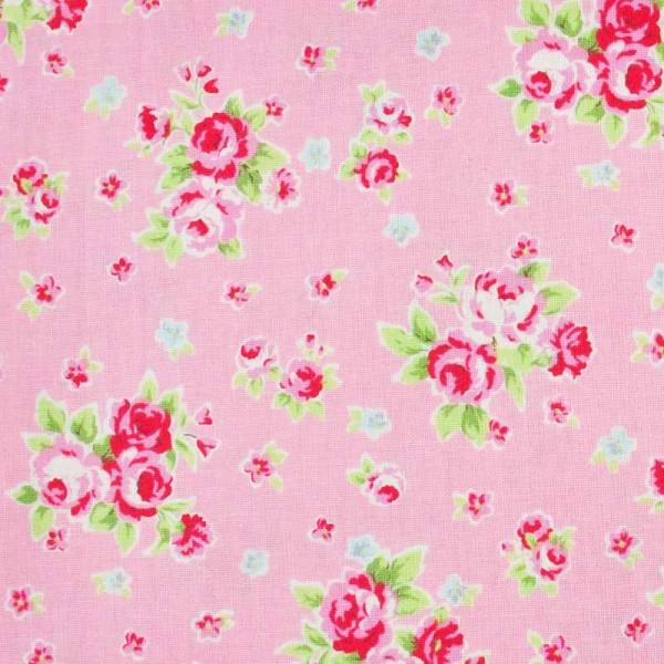 Rico Design Stoff Blümchen rosa-rot 50x55cm