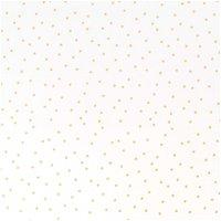 Rico Design Stoff Punkte weiß-gold 140cm