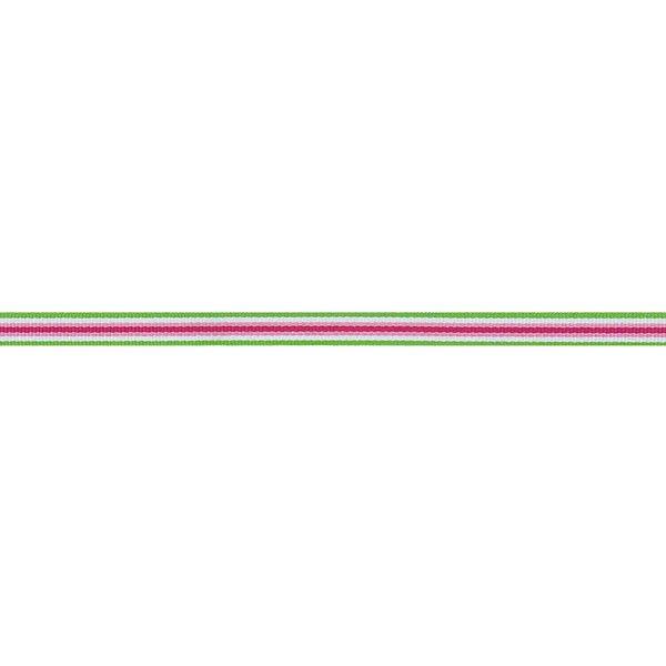 Rico Design Ribbon Streifen grün-weiß-rosa-pink 2m
