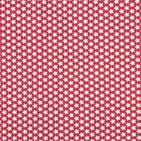 Rico Design Stoff Blümchen rot-weiß 160cm