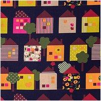 Rico Design Stoff Häuschen mehrfarbig 50x160cm