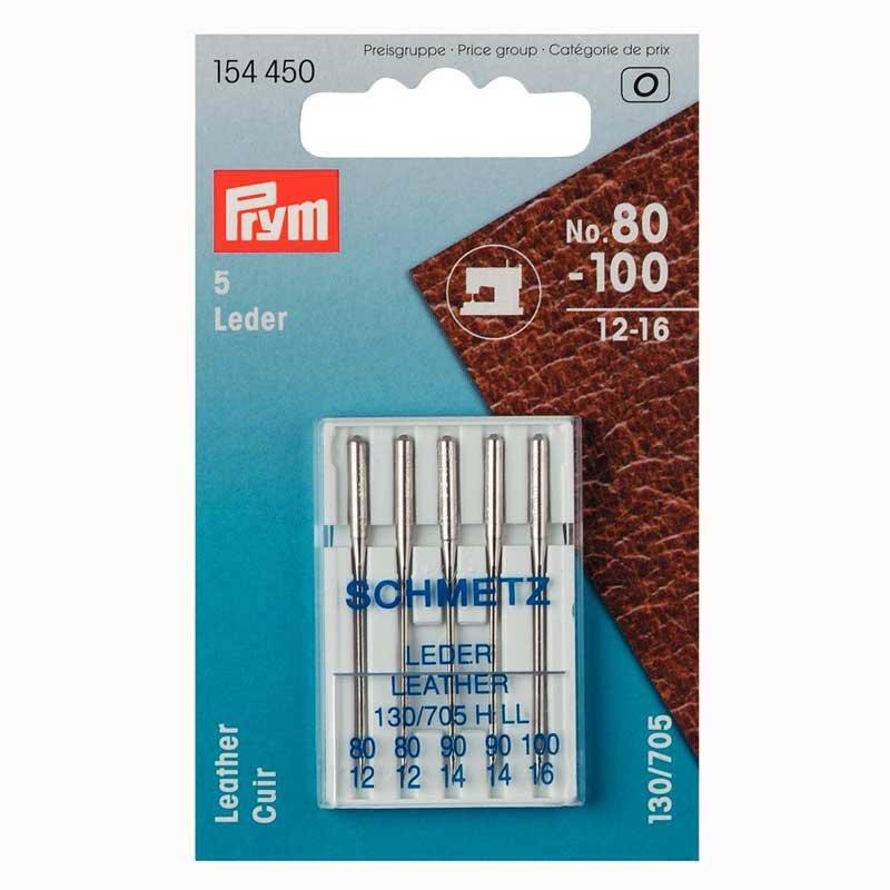 Prym Nähmaschinennadeln 130/705 Leder Nr.80-100 5 Stück